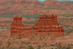 Red rocks of Arches National Park. A red rock formation in the Arches National Park in Utah Royalty Free Stock Photos