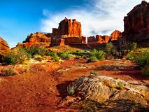 Arches National Park, Utah. Red rocks - Arches National Park, Utah Royalty Free Stock Image
