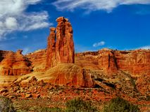 Arches National Park, Utah. The Three Gossips red rocks - Arches National Park, Utah. United States Royalty Free Stock Photography