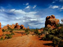 Arches National Park, Utah. Red rocks - Arches National Park, Utah Royalty Free Stock Images
