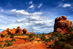 Red Rocks, Arches National Park, Utah Royalty Free Stock Images