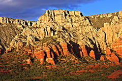 Red Rocks of Arizona. Red rocks found in the natural landscape around Sedona, Arizona Stock Photos