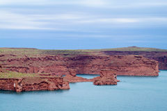 Red rocks in Atlantic coast Royalty Free Stock Image
