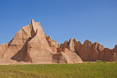 Red rocks in the Badlands Royalty Free Stock Image