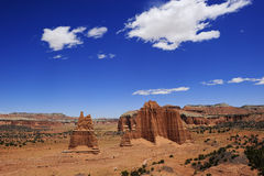 Red rocks and blue sky Royalty Free Stock Photography
