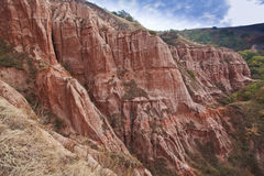 Red rocks in canyon in the fall Stock Photos