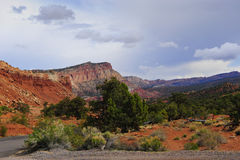 Red rocks in Capitol Reef Royalty Free Stock Photo
