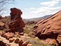 Red Rocks. Colorado blue sky views Stock Image