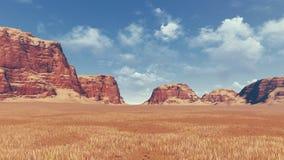 Red rocks among desert land Stock Images