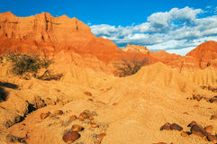Red Desert and Rocks Stock Photography