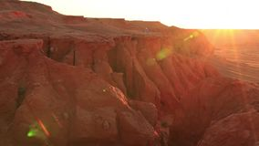 Red rocks in the desert at sunset. Arizona, United States.  stock video