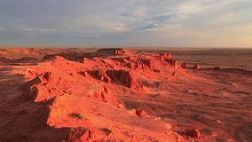 Red rocks in the desert at sunset. Arizona, United States.  stock video footage