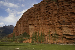 Red rocks in Djety Oguz, Kyrgyzstan Stock Images