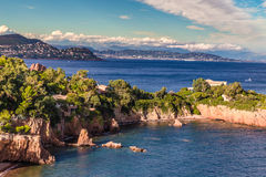 Red rocks of Esterel Massif-French Riviera,France Stock Photography