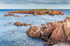 Red rocks of Esterel Massif-French Riviera,France Royalty Free Stock Images