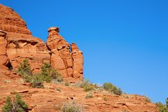 Red Rocks Formations. In the high desert in Sedona, Arizona royalty free stock photos
