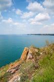 Red rocks on Kaliakra headland, Bulgaria Stock Images