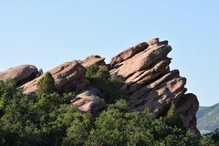 Red Rocks in Ken Caryl Ranch Royalty Free Stock Photo