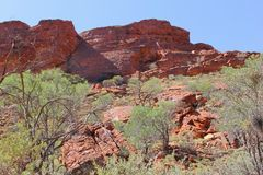 Red rocks in Kings Canyon, Watarrka National Park, Australia Stock Photography