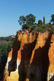 Red rocks of Luberon Stock Images