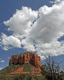 Red Rocks. Monolith sandstone rock formation with clouds Royalty Free Stock Photography