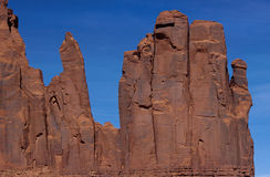 Red rocks in Monument Valley, USA stock photography