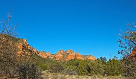 Red rocks Mountain Range. Majestic mountain range of Red Rocks in Sedona Arizona Stock Image