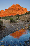 Red Rocks Mountain Reflection Royalty Free Stock Photo