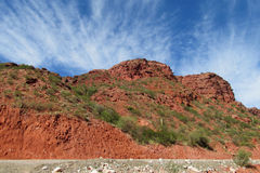 Red rocks in mountain valley. In north Argentina Royalty Free Stock Photography