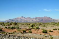 Red rocks in mountain valley. In north Argentina Stock Photography