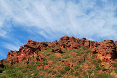Red rocks in mountain valley. In north Argentina Royalty Free Stock Image