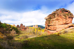 Red rocks near  Chequilla and Checa Royalty Free Stock Images