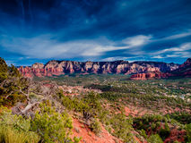 Red Rocks near Sedona Arizona HDR Royalty Free Stock Photography