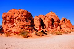 Red rocks of Nevada Royalty Free Stock Photography