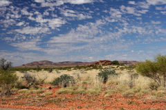 Red rocks in outback Australia Royalty Free Stock Photos