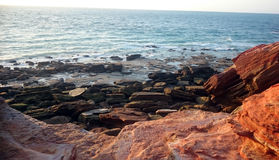 Red rocks overlooking the Indian Ocean Royalty Free Stock Image