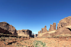 Red rocks panorama. In Arches National park, Utah Royalty Free Stock Photography