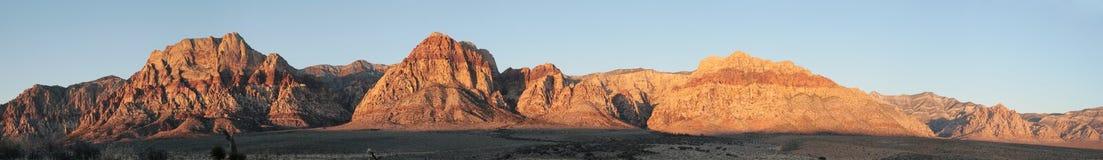 Red rocks panorama Stock Photo
