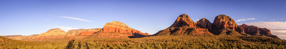 Red Rocks Panorama Royalty Free Stock Photo