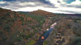 Red Rocks panorama stock video