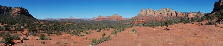 Red rocks panoramic view Royalty Free Stock Photos