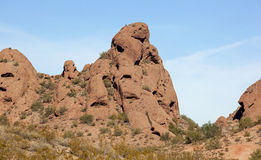 Red Rocks of Papago Royalty Free Stock Photography