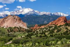 Red Rocks Park Colorado stock photography