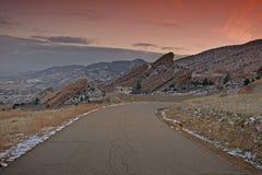 Red Rocks Park. Near Denver, Colorado, USA. Red Rock Park Sunset Stock Images