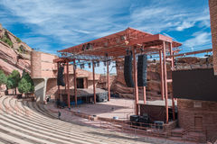 Red Rocks Park. Red Rocks state park and amphitheater stage just outside of Denver, Colorado Stock Photography