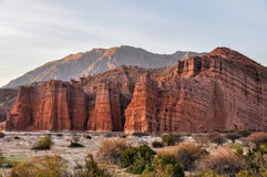 Red rocks in the Quebrada de las Conchas, Argentina Royalty Free Stock Photos