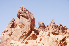 Red Rocks Rising into Sky Royalty Free Stock Images