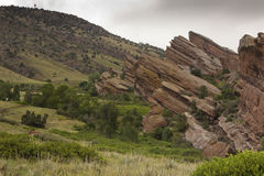 Red Rocks and the Rocky Mountain foothills Stock Photography