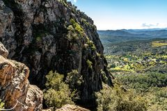 Red rocks of roquebrune sur argens, france royalty free stock photography