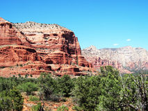 Red Rocks of sedona. With beautiful blue sky Stock Photography